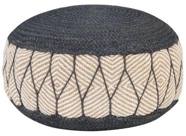 Пуф VLX Woven/Knitted Pouffe, серый, 50 см x 50 см x 30 см
