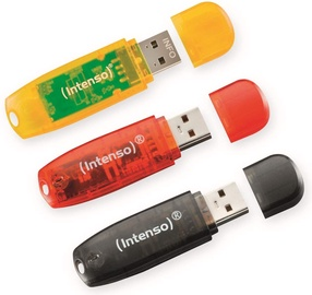 USB atmintinė Intenso Rainbow Line, USB 2.0, 16 GB