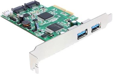 Delock PCIe 2 x USB3.0 + 2 x SATA