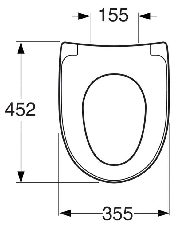 Tualetes poda vāks Gustavsberg Nautic, ar Softclose mehānismu