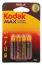Kodak LR03-4BB AAA Max Batteries 4x