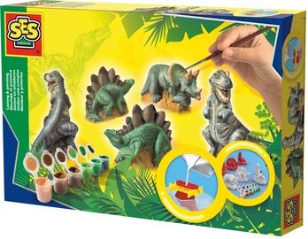 Gipsinių figūrų gaminimo rinkinys SES Creative Children's Dinosaurs Casting & Painting Set 01406