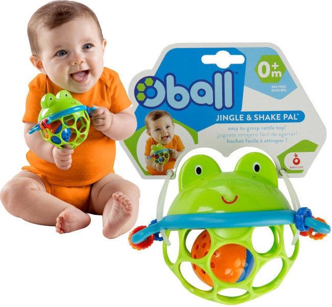 Grabulis Oball Jingle And Shake Pal Frogball 10063