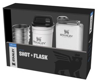 Stanley Adventure Gift Set 4pcs Shot 50ml + Flask 0.23l White