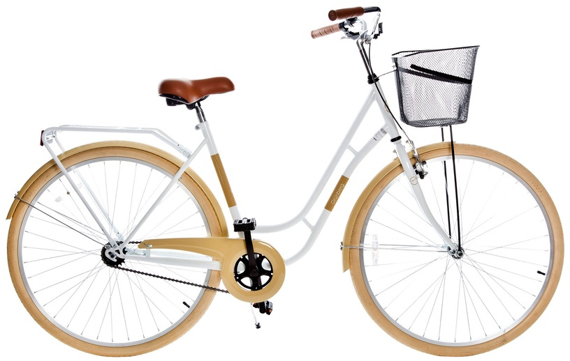Dviratis Grunberg Holland Single Speed 28 White/Beige 16