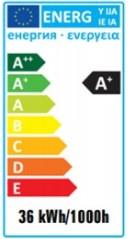 Liuminescencinė lempa Spectrum T8, 36W, G13, 3000K, 3350lm
