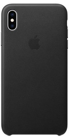 Apple Leather Back Case For Apple iPhone XS Max Black