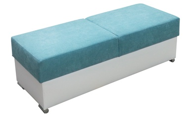 Pufas Idzczak Meble Grand Blue/White, 140x53x45 cm