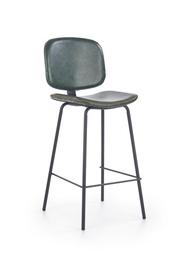 Baro kėdė H84, tamsiai žalia/juoda