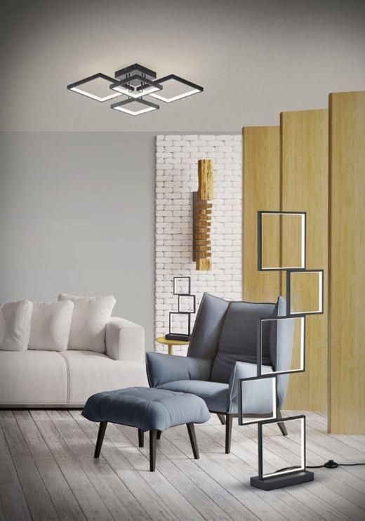 Trio Sorrento matēts melns galda LED gaismeklis 15W, 1500lm, 3000K, trīspakāpju slēdža aptumšošanas funkcija