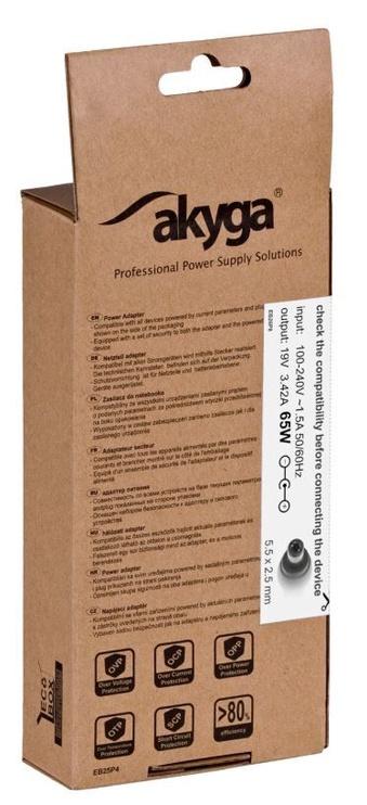 Akyga Power Adapter 19V/3.42A 65W 5.5x2.5