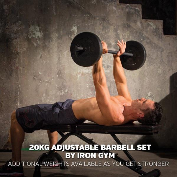 Surenkamas svarmenų komplektas Iron Gym V20, 20 kg