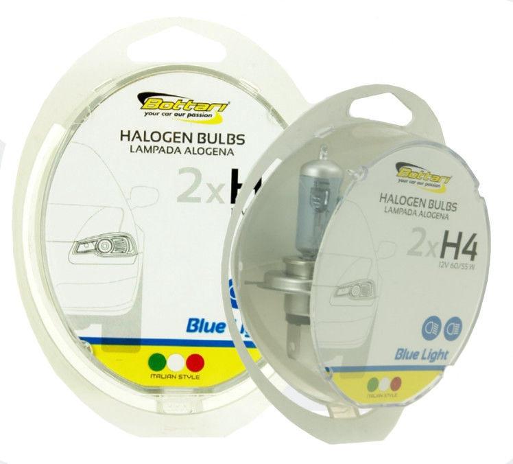 Автомобильная лампочка Bottari Halogen H4 12V 60/55W B2 Blue Light 35006