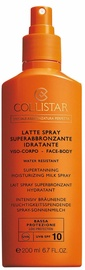 Collistar Supertanning Moisturizing Milk Spray SPF10 200ml
