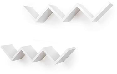 Songmics Floating Wall Shelf White 2pcs