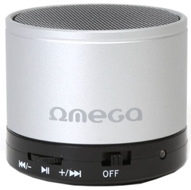 Belaidė kolonėlė Omega OG47B 3W Metal Body Bluetooth Speaker Silver