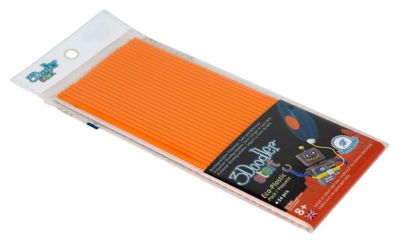 Расходные материалы для 3D принтера 3Doodler Start Eco Plastic, 0.15 м, oранжевый