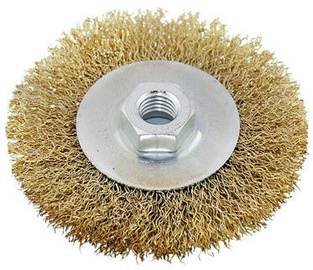 Ega Brass Wire Wheel Brush 100mm