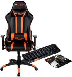 Canyon Fobos Gaming Chair Black/Orange + Canyon Gaming Set CND-SGS02