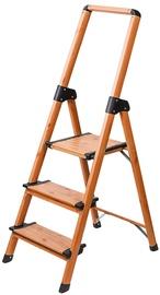 Лестница Tatkraft Aluminium 3-Step Ladder Scandinavian Wood Style
