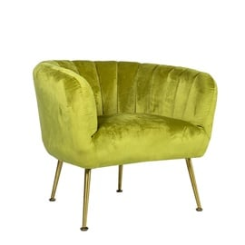 Fotelis Home4you Tucker Light Green/Gold, 78x71x69 cm