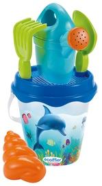 Набор игрушек для песочницы Ecoiffier Ocean, синий/зеленый/oранжевый/голубой, 2 шт.