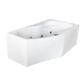 Masažinė vonia Kyma Neringa, 170x94x60 cm, akrilas, kairinė