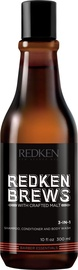 Redken Brews 3in1 Shampoo Conditioner And Body Wash 300ml