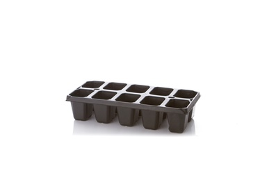 Plastikinė daugiavietė daigykla, 10 narelių, 18.3 x 13 cm