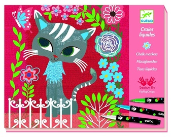 Djeco Chalk Markers In My Garden Coloring Book