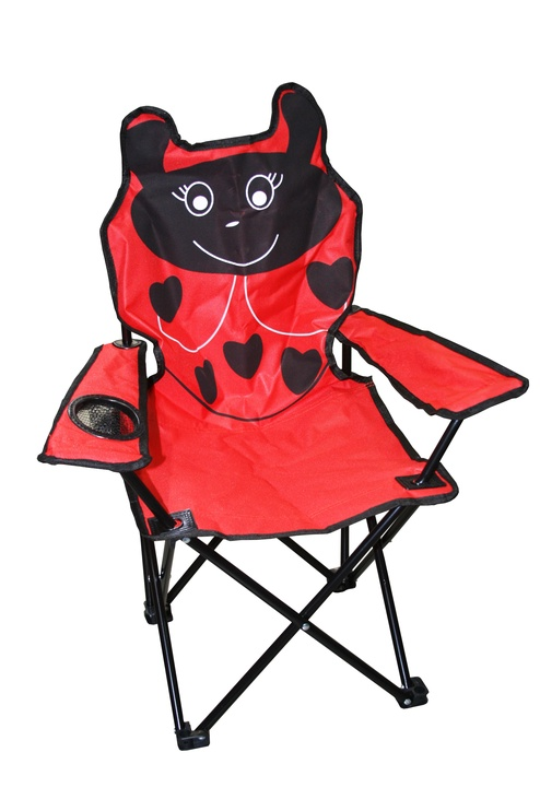 BESK Childrens Camping Chair Ladybird