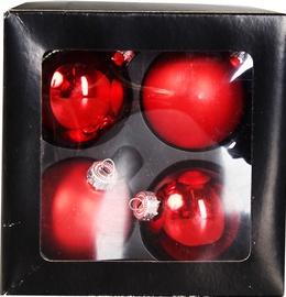 Verners Christmas Balls Red 6cm 4pcs