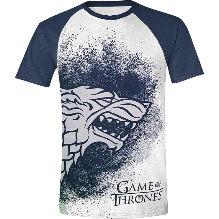 Футболка Licenced Game Of Throne Painted Stark Raglan T-Shirt White/Blue M