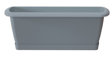 Prosperplast Balcony Flower Box With Plate Grey 40cm
