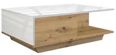 Kafijas galdiņš Top E Shop Denver Artisan, balta/ozola, 900x600x420 mm