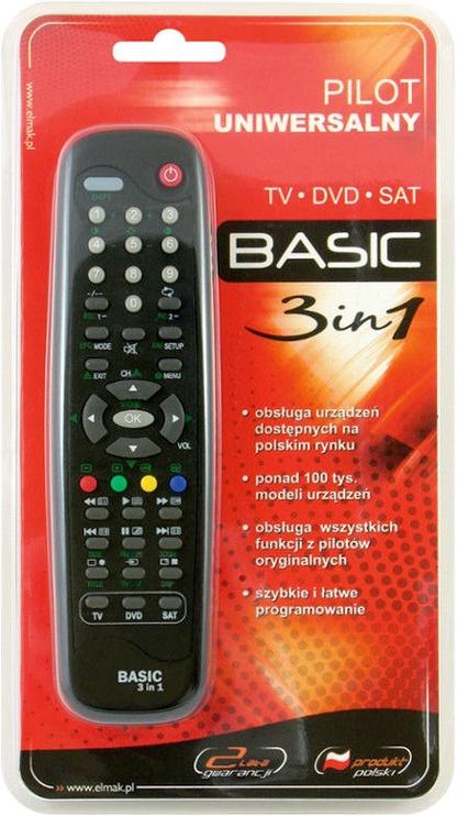 Elmak Basic 3 in 1 Universal Remote Control