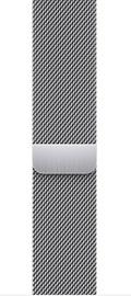 Ремешки Apple 45mm Silver Milanese Loop, серебристый
