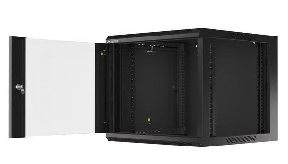 "Серверный шкаф Lanberg WFFA-5609-10B 19"" 9U Wall-Mounted Rack"