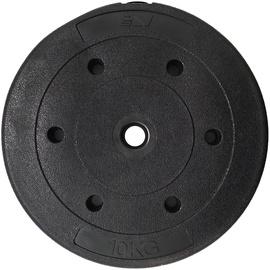 SportVida Rubbered Universal Disc 10kg Black