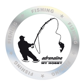 SN Car Sticker Fishing Hobby 1/05125