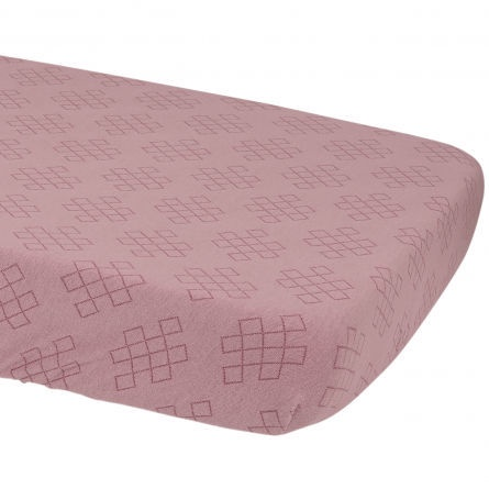 Lodger Slumber Empire Sheet With Rubber Maroon 70x140