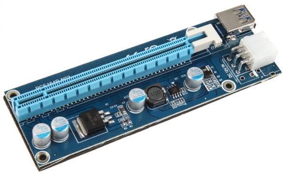 Kolink PCI-E 1x Auf 16x Powered Riser Card Mining/Rendering Kit Pro 1