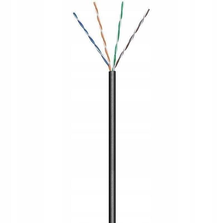 Techly U/UTP Hank Cable Cat.5E CCA 100m 4 Couples Rigid Outdoor Black