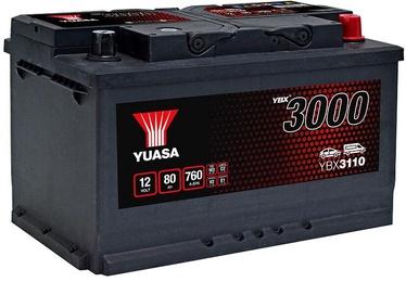 Аккумулятор Yuasa, 12 В, 80 Ач, 760 а