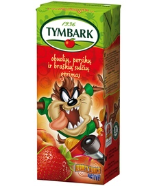 Obuolių, persikų ir braškių gėrimas Tymbark, 0.2l