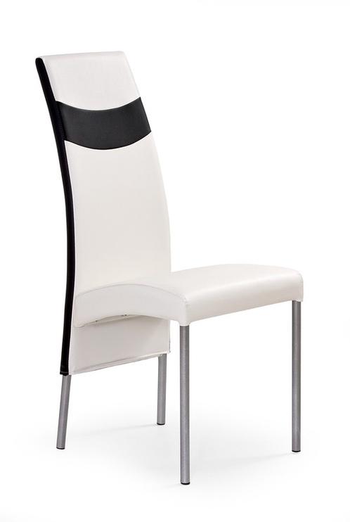 Svetainės kėdė K51, balta/juoda