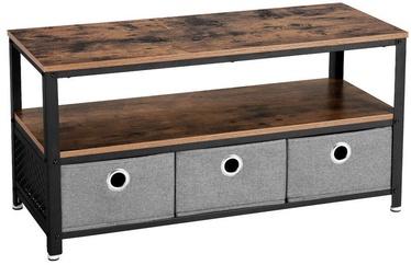 TV galds Songmics, brūna/melna, 1000x400x520 mm