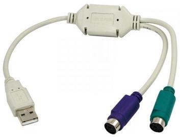 LogiLink Adapter Mini DIN 6-pin to USB 0.2m