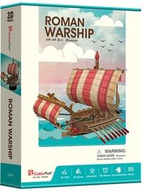 3D dėlionė CubicFun Roman Warship T4032h, 85 dalių