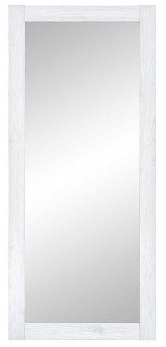 Veidrodis Black Red White Porto White, kabinamas, 51x116 cm